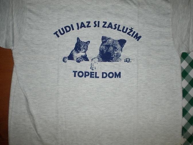 Sprednja stran majice.